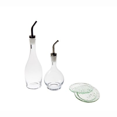 D&V Glass Dinnerware 4pc Cruet Dipping Set
